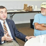 State Rep. Aaron Kaufer has open discussion with area constituents in West Wyoming