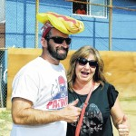 Hughestown man wins hot dog eating contest for third year