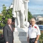 Columbus statue cleaned for Tomato Festival