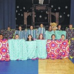 Sixth grade students at Holy Rosary School in Duryea make blankets for sick children
