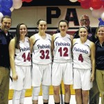 Lady Patriot basketball players honored prior to last regular season game