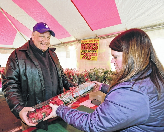 West Pittston Hose Company holding rose sale for Valentine's Day in front of Driscoll's Home Center Feb. 12-14