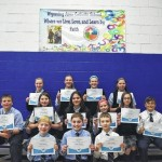 Students at Wyoming Area Catholic in Exeter compete in Spelling Bee