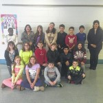 Sarah J. Dymond Elementary students organizing coat drive
