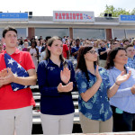 Greater Pittston AMVETS hold Memorial Day program, present flags at Pittston Area High School