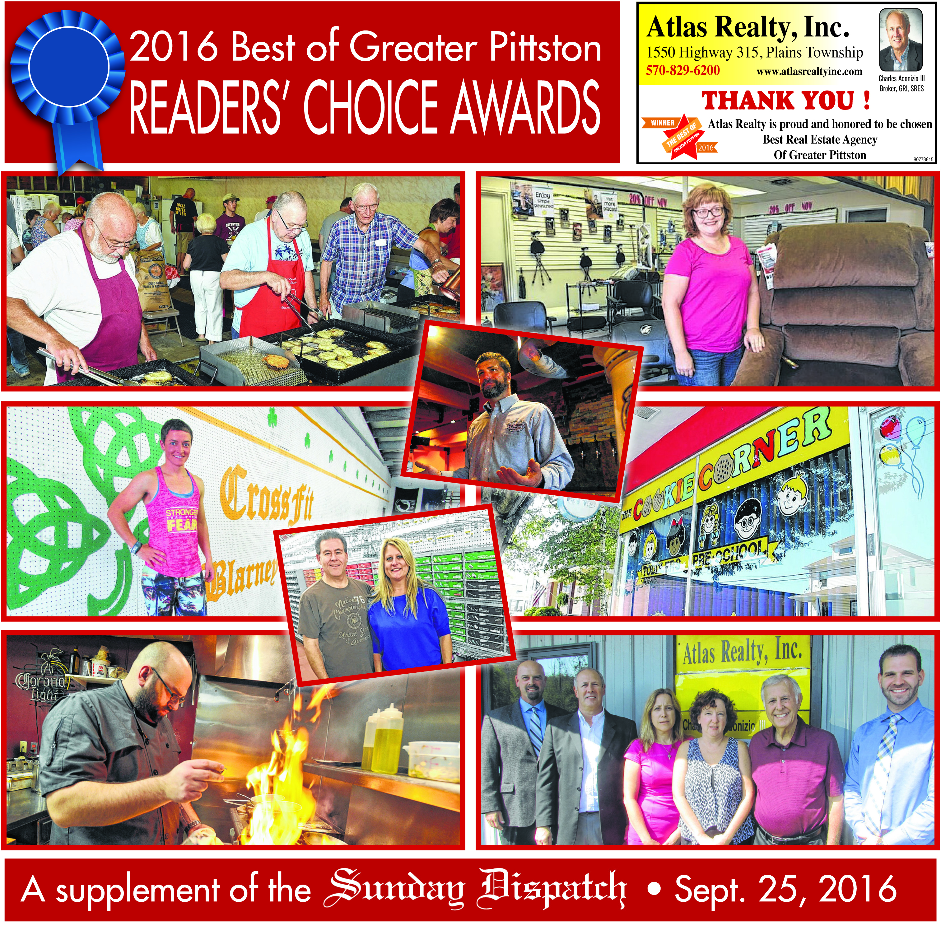 2016 Best of Greater Pittston Readers' Choice Awards