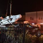 Pittston officials planning to repair Columbus statue knocked over in crash