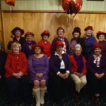 Greater Pittston chapter of the Red Hats Society celebrates Edythe Kepics 90th birthday