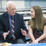 Martin L. Mattei Middle School students host Pittston Area School Board members at breakfast