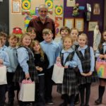 Students at Exeter's Wyoming Area Catholic School make valentines for patients in Pittston