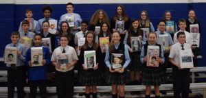 Students at Exeter's Wyoming Area Catholic School design cereal boxes