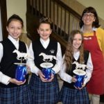 Students at Duryea's Holy Rosary Elementary School create art for Marley's Mission's Blue Ribbon Gala