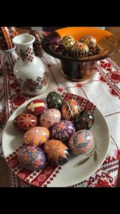 Pysanky egg decorating class held at Pittston Memorial Library