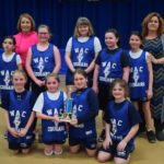 Wyoming Area Catholic School third and fourth-grade girls basketball team takes second place in tournament