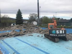 West Pittston Pool being demolished; proposed park to take its place