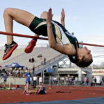 Three-event standouts lead Wyoming Area to second in district track meet