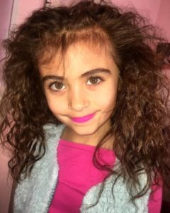 Solana Marie Frances Ginocchietti is 6 years old